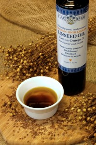 High lignan linseed flax oil