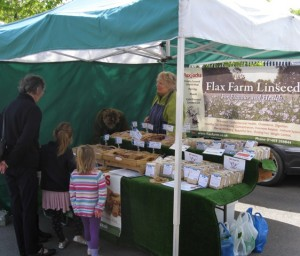 Flax Farm market stall at Farnham