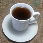 a small cup of essiac tea