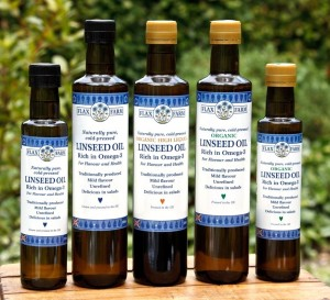 Fresh cold-pressed linseed (flaxseed) oil