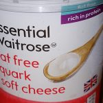 Quark cottage cheese from supermarket Waitrose