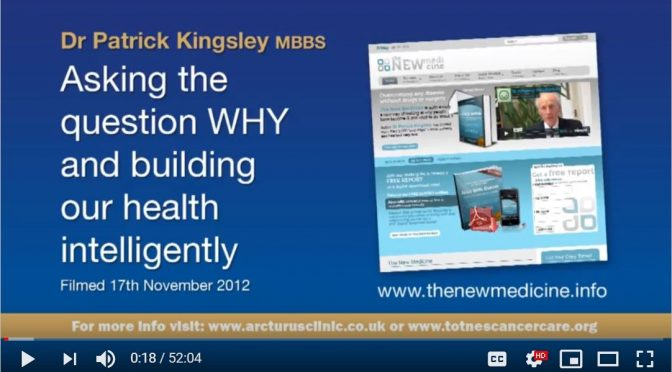 Dr Patrick Kingsley asking Why and Building Health.